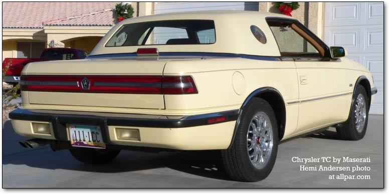 Chrysler TC by Maserati 1989 - 1991 Cabriolet #6