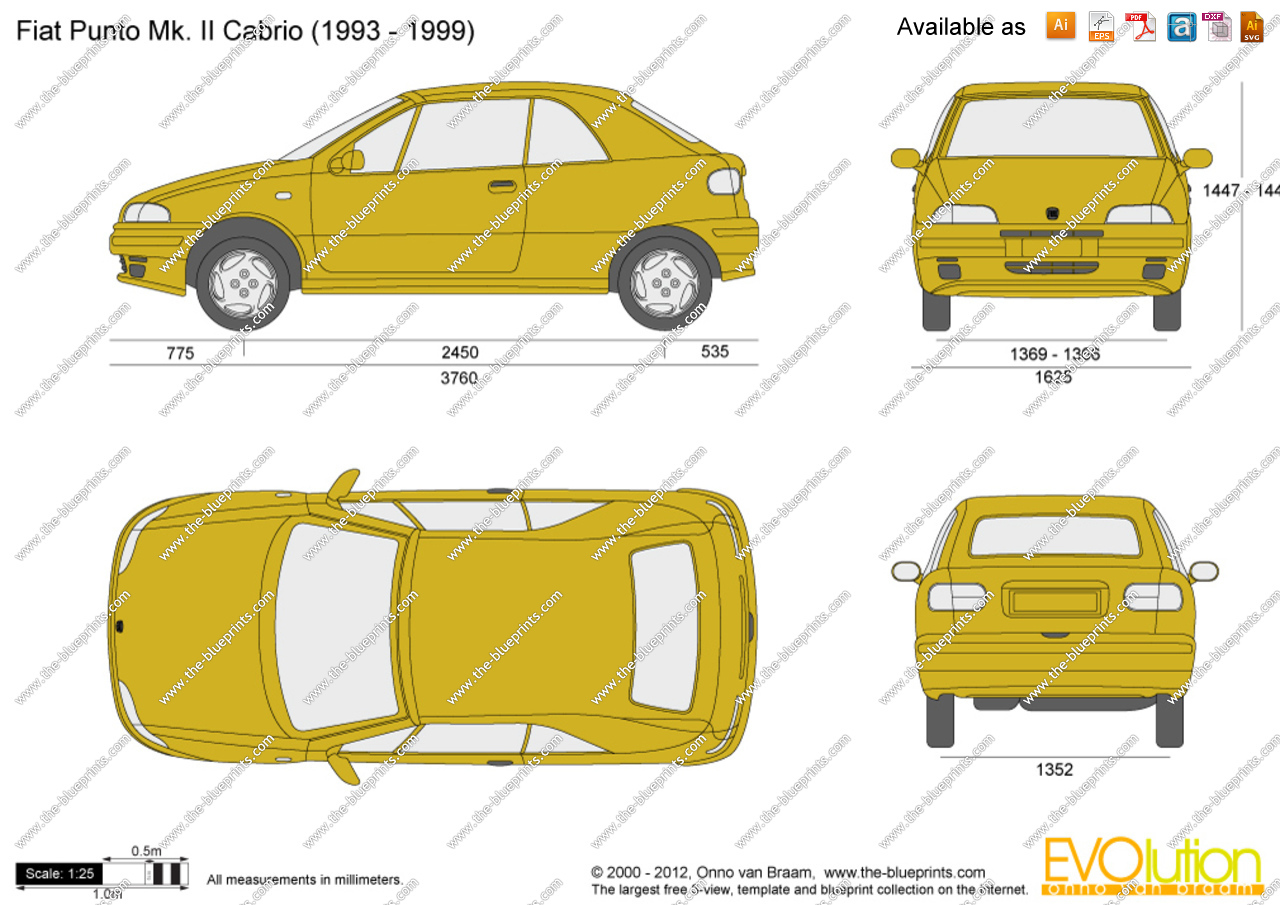 fiat punto i 1993 1999 cabriolet outstanding cars. Black Bedroom Furniture Sets. Home Design Ideas