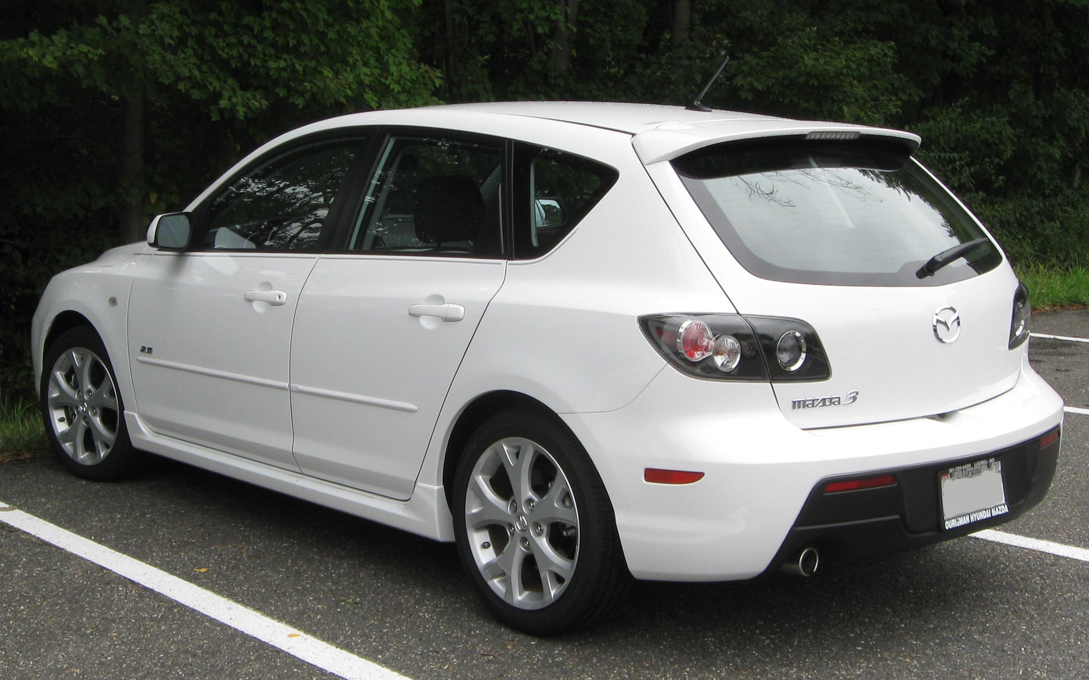 2003 mazda 3 hatchback mpg