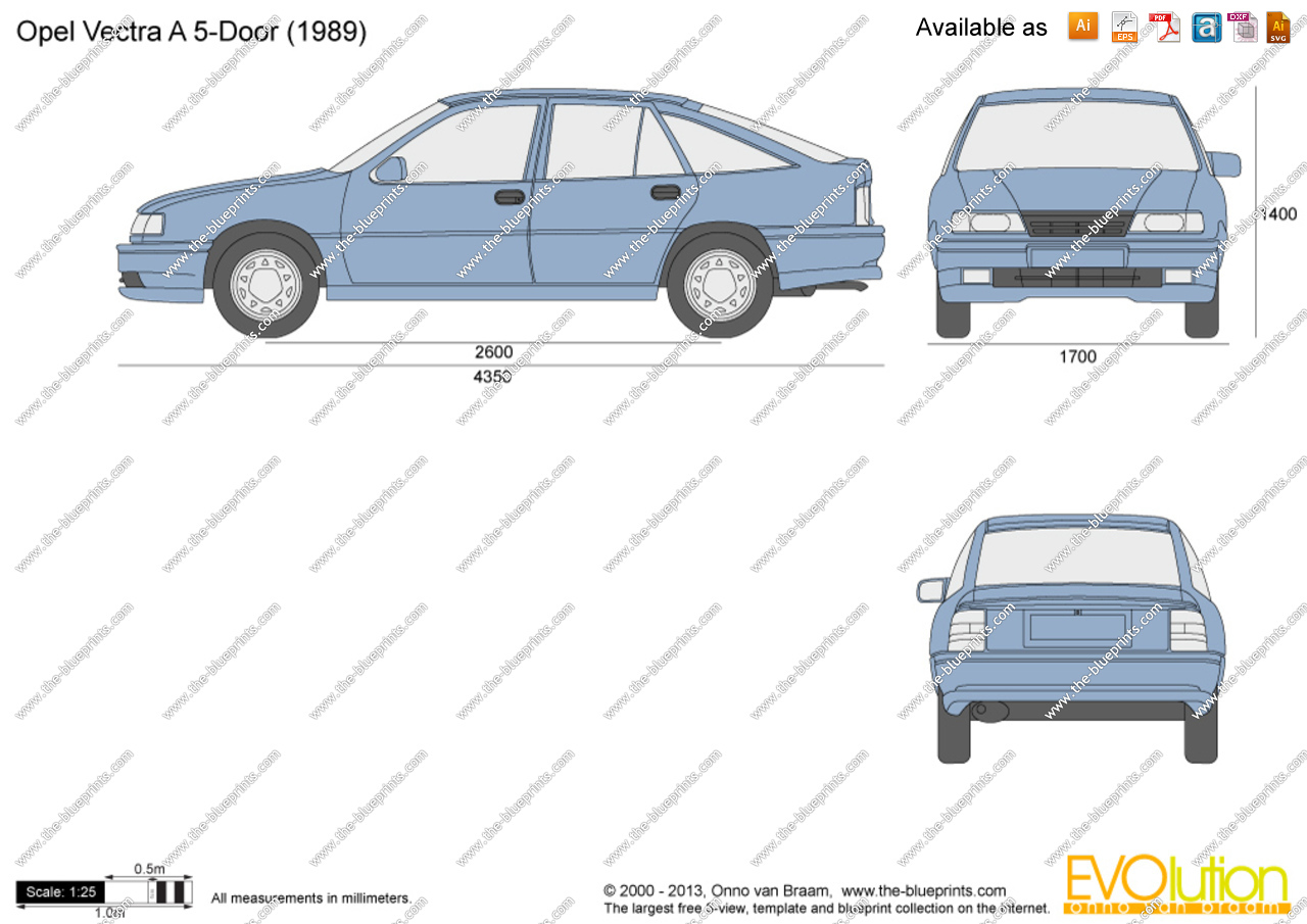 Opel Vectra A 1988 - 1995 Hatchback 5 door #1