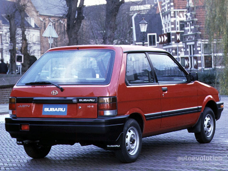 Subaru Justy I 1984 - 1987 Hatchback 3 door #1