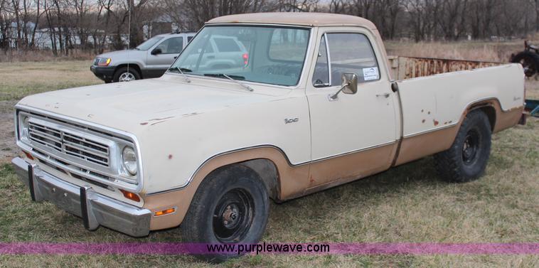 Dodge D/W Series III 1972 - 1980 Pickup #7