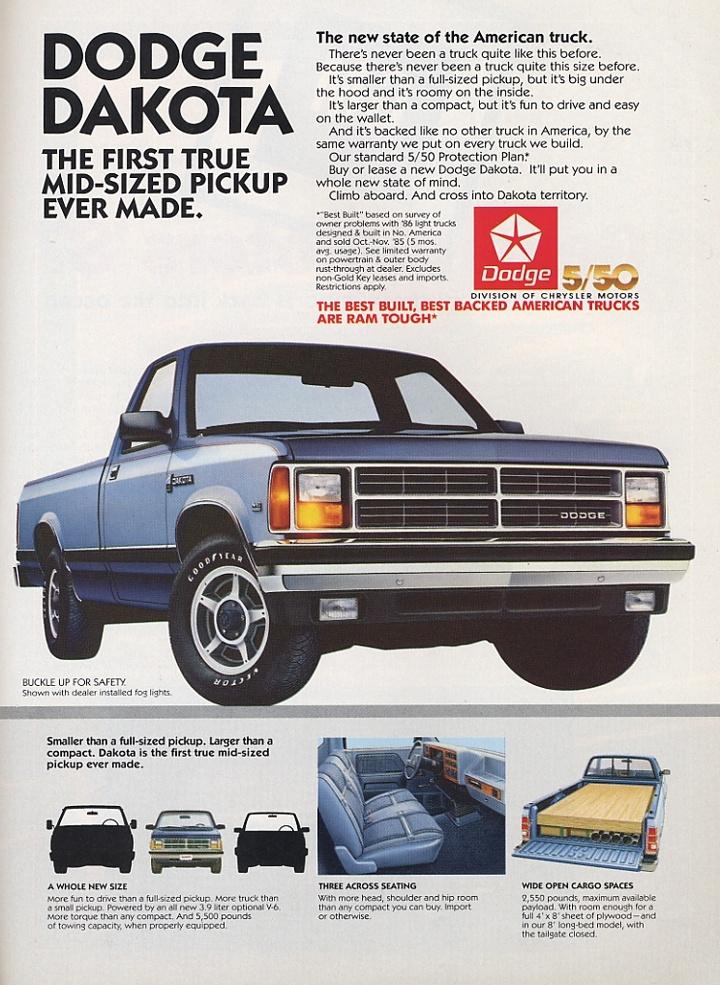 Dodge Dakota I 1987 - 1996 Pickup #4