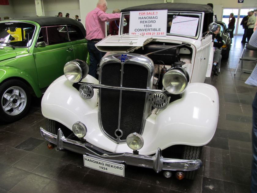 Hanomag Rekord I 1934 - 1940 Coupe #2