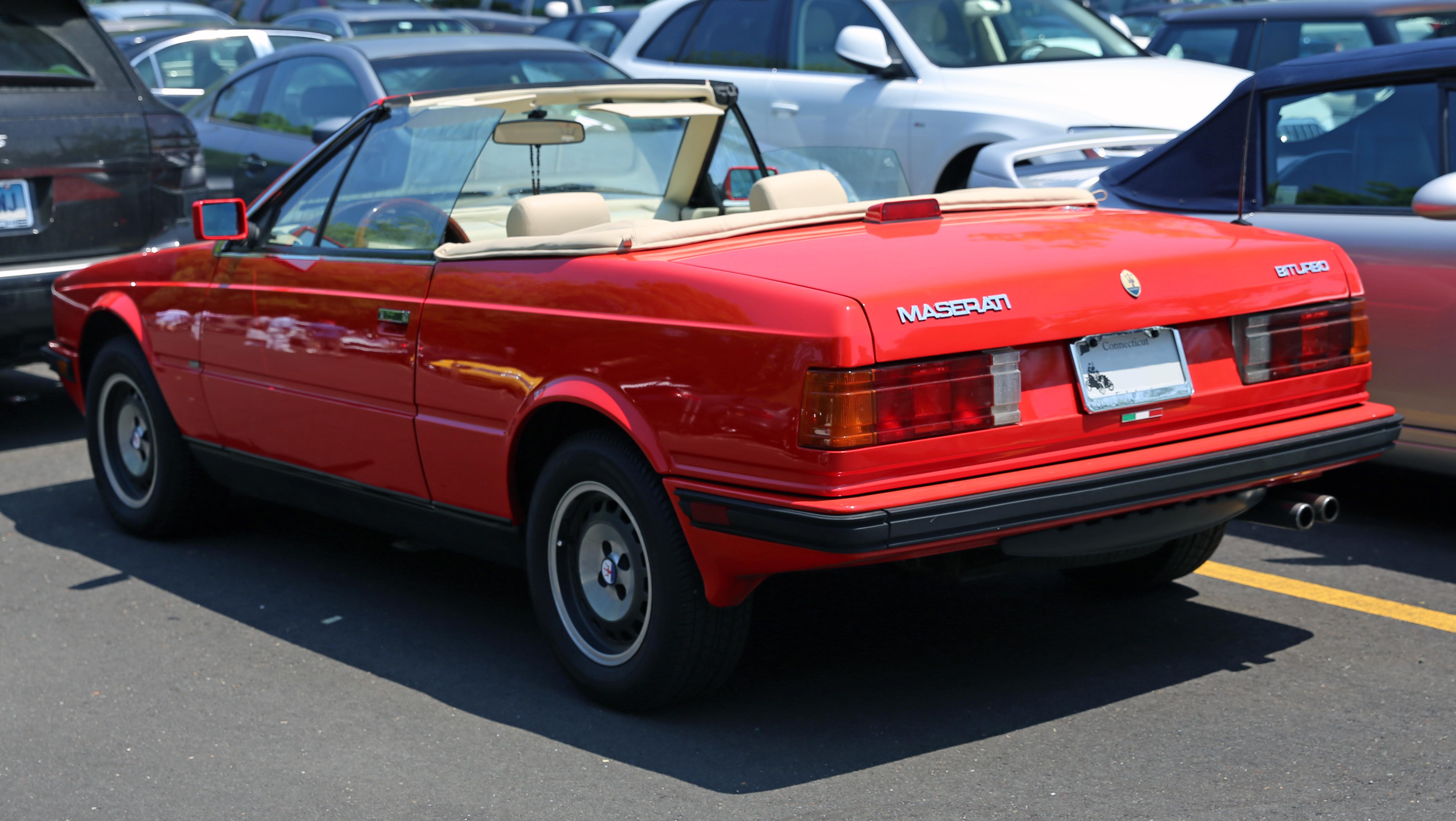 Maserati Biturbo 1981 - 1994 Cabriolet :: OUTSTANDING CARS
