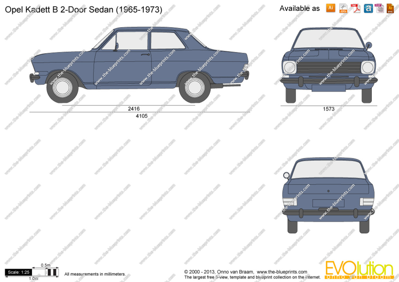 Opel Kadett B 1965 - 1973 Sedan 2 door #2
