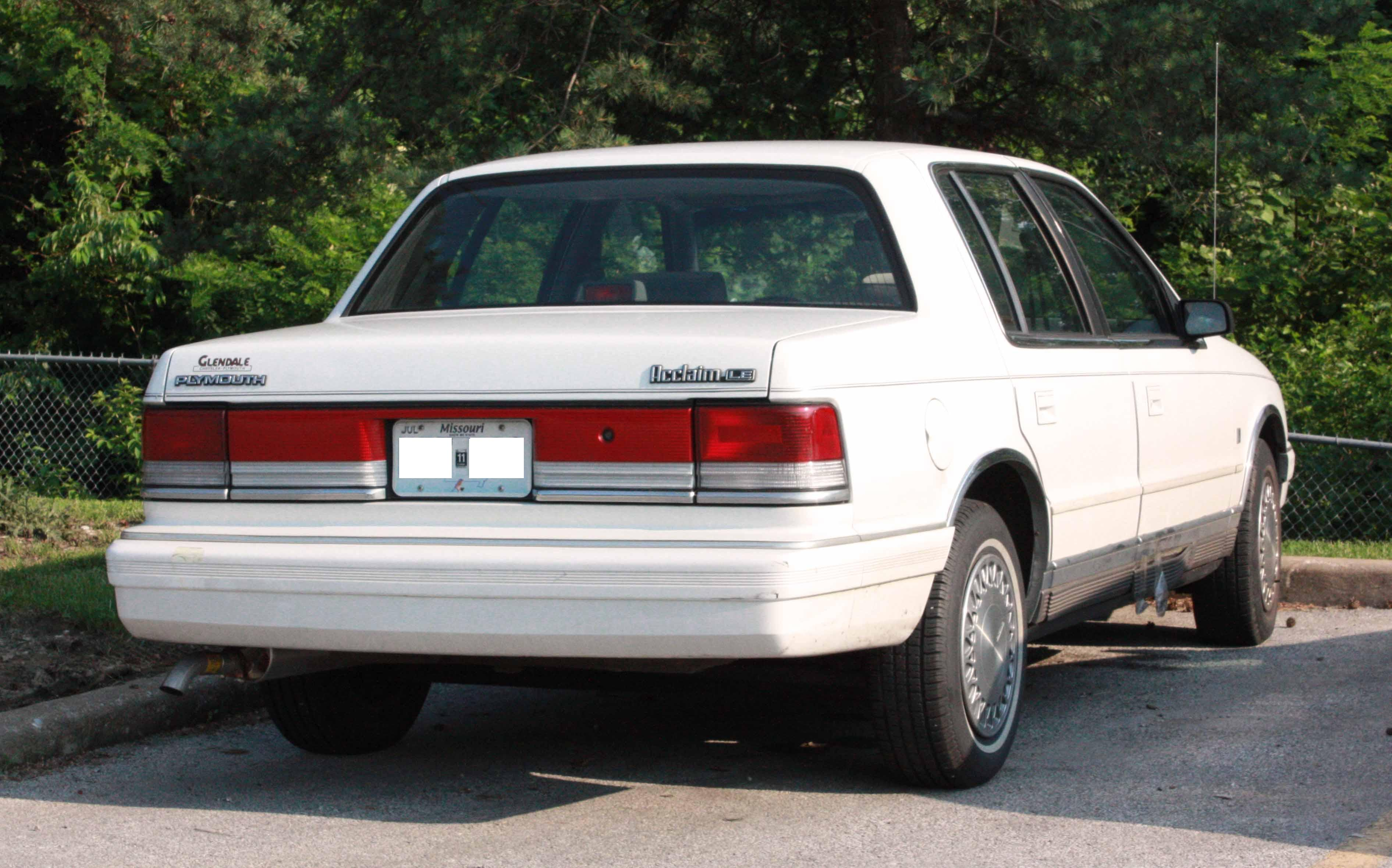 Plymouth Acclaim 1989 - 1995 Sedan #4