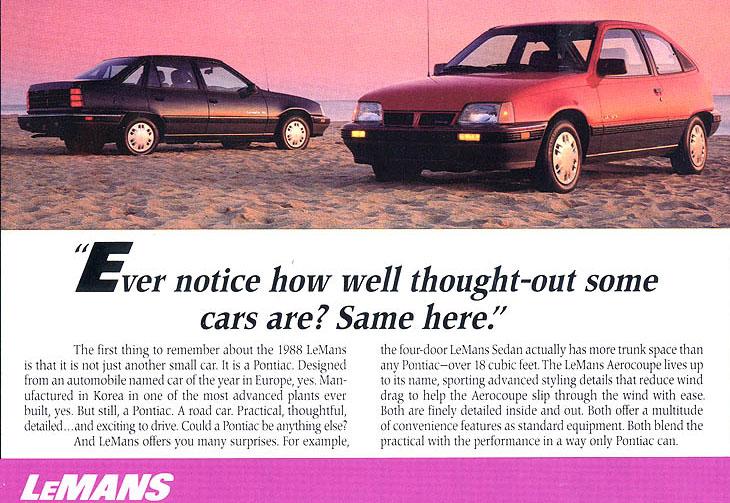 Pontiac LeMans VI 1988 - 1991 Hatchback 3 door #7