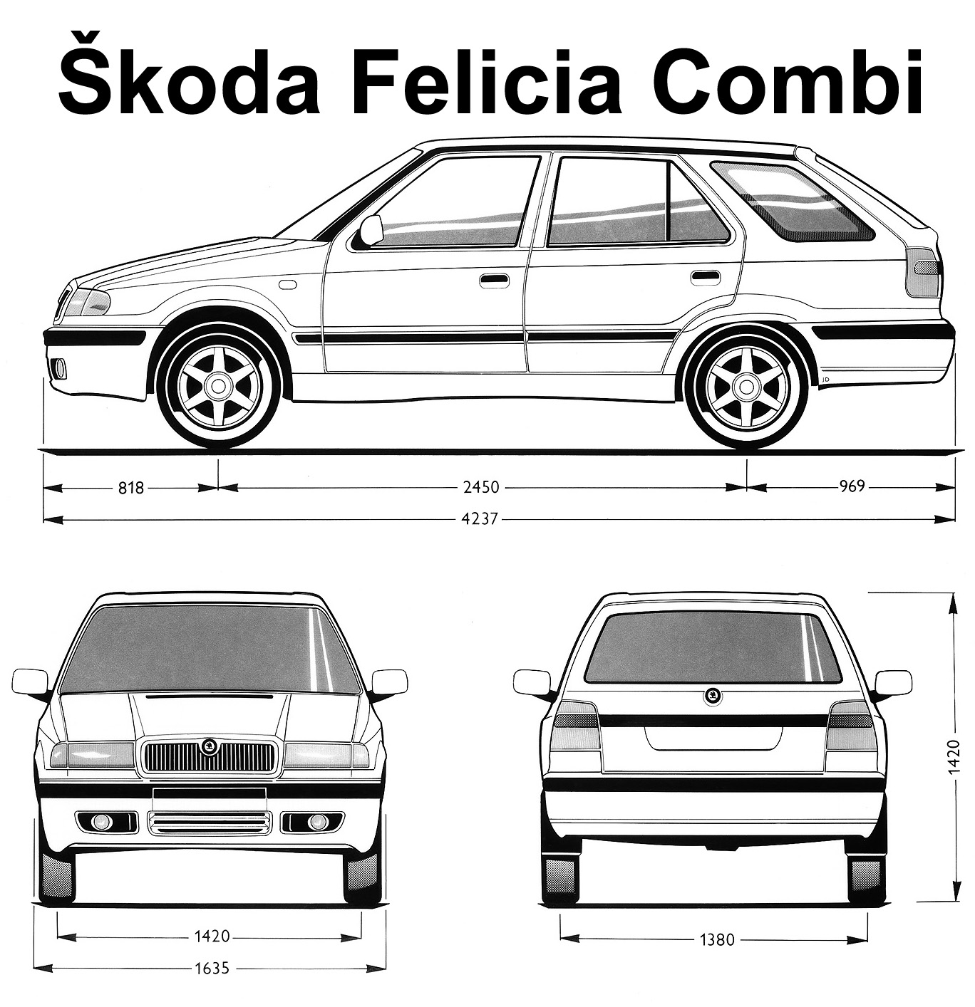 Skoda Felicia I Restyling 1998 - 2001 Station wagon 5 door #1