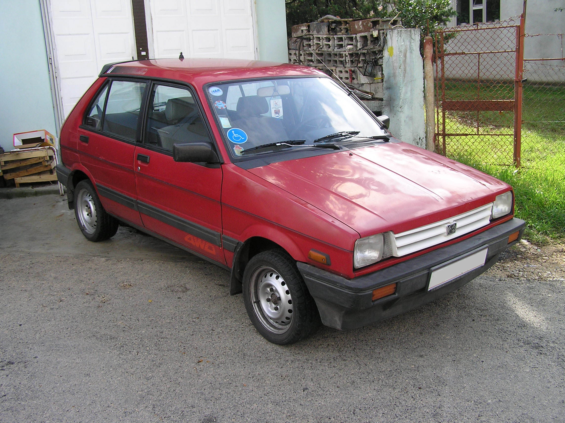 Subaru Justy I 1984 - 1987 Hatchback 3 door #5
